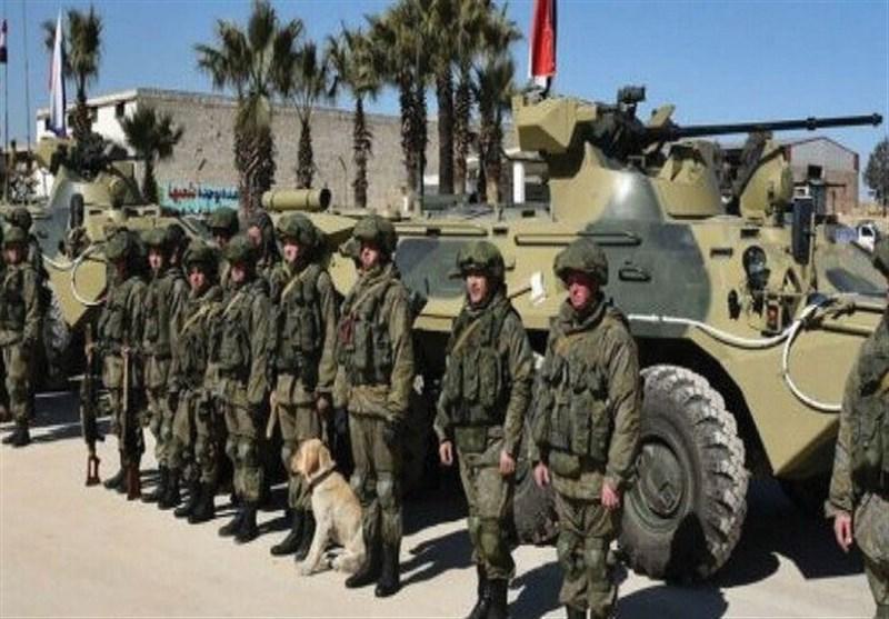 استقرار نیروهای روسیه در منطقه ای از الرقه که محل حضور آمریکایی ها بود
