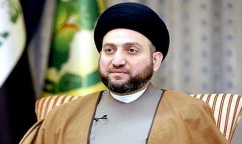 پیغام تبریک سید عمار حکیم به قالیباف